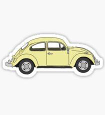 Gelber Volkswagen Käfer Sticker