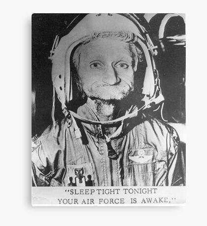 Sleep Tight Tonight Your Air Force is Awake Metal Print