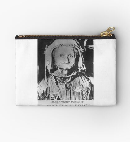 Sleep Tight Tonight Your Air Force is Awake Zipper Pouch