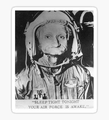 Sleep Tight Tonight Your Air Force is Awake Sticker