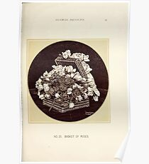 Floral Designs Series I a hand book for cut flower workers and florists John Horace McFarland 1888 0063 Basket of Roses Poster