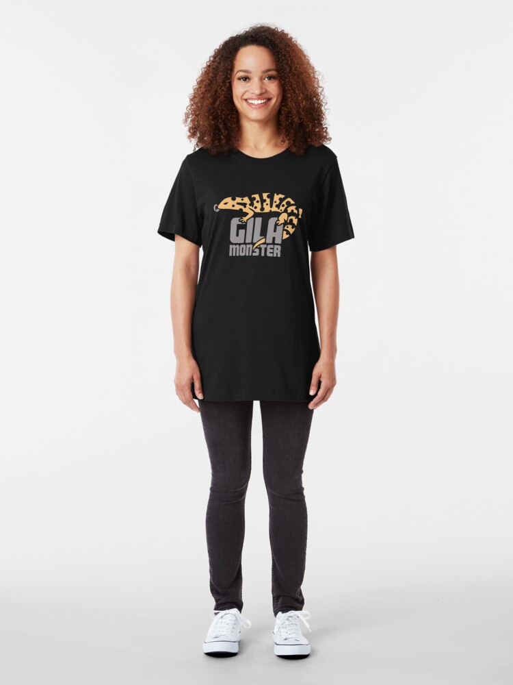 Alternative Ansicht von Pet Gila Monster / Eidechse Reptil Herpetologie Slim Fit T-Shirt