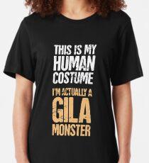 Haustier Gila Monster / Eidechse Reptil Slim Fit T-Shirt