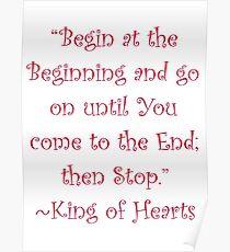 Begin At The Beginning Poster