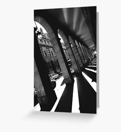 Paris, Rivoli street arches. Greeting Card