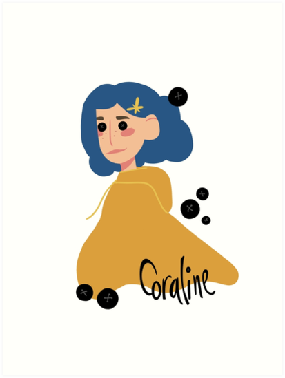 Coraline Button Eyes Art Print By Smileyjuley Redbubble