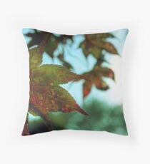 Japanese Maple Leaves Throw Pillow