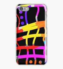 Black and colors, cross hatch, modern design iPhone Case/Skin