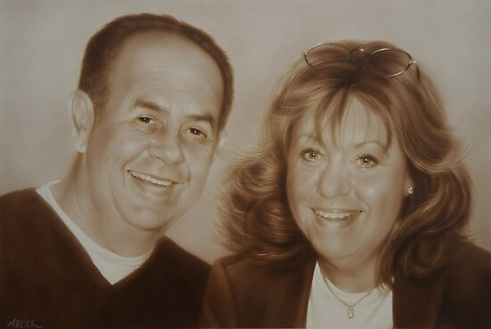 Kathy and Frank by marcelfineart