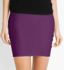 Solid Purple T-shirt - Plain Violet Favorite Color Tee Mini Skirt
