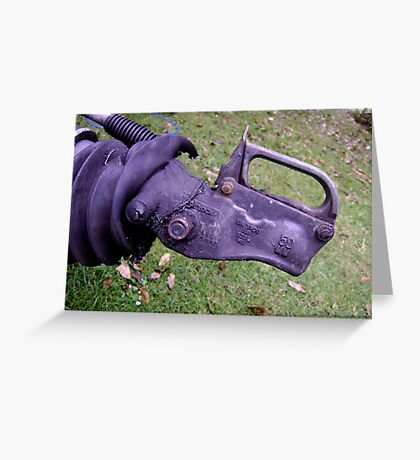 Rhino, Needs Friends - trailer hitch Greeting Card