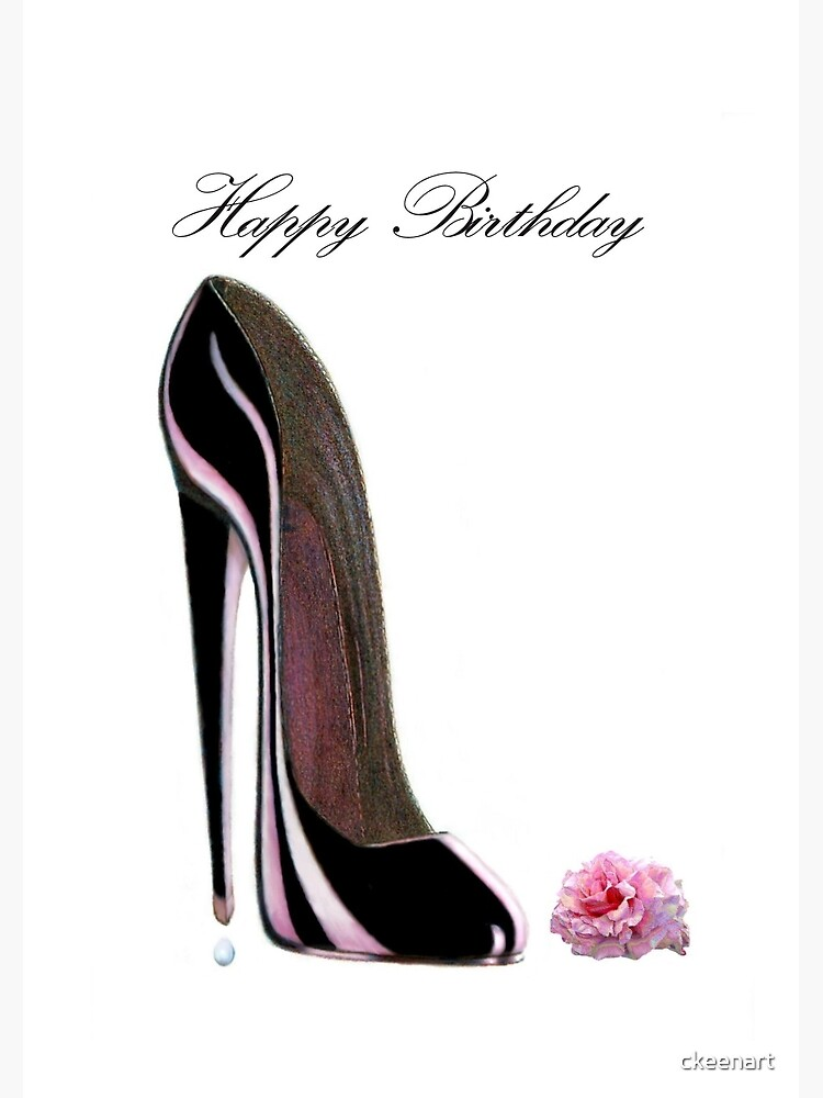 Stiletto Happy RoseSpiralblock Shoe Birthday And Black 4jq35ARL