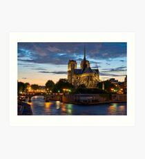 Cathédrale Notre-Dame de Paris la nuit Impression artistique