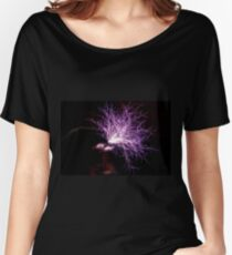 Tesla Coil Plasma Fire Women's Relaxed Fit T-Shirt