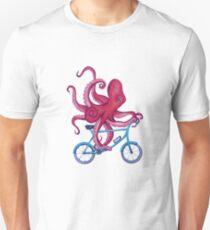 Kürzlich Radfahren Octopus Slim Fit T-Shirt