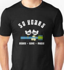 50 years Woodstock  Slim Fit T-Shirt