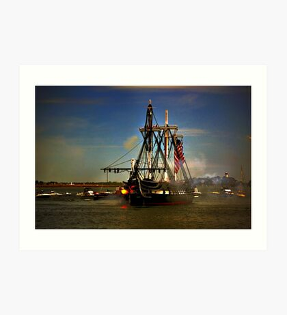 Independence Day Celebration with USS Constitution  Art Print