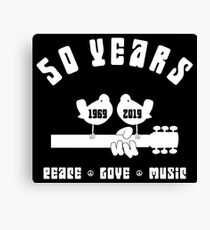 50 years Woodstock Canvas Print