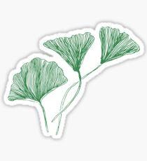 gingko leaf Sticker
