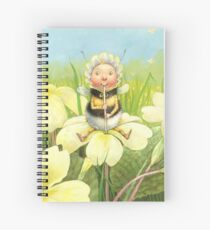 'Beebod' - cute bee-pixie Spiral Notebook