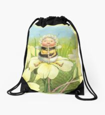 'Beebod' - cute bee-pixie Drawstring Bag