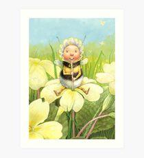 'Beebod' - cute bee-pixie Art Print