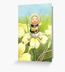 'Beebod' - cute bee-pixie Greeting Card