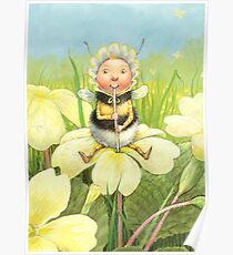 'Beebod' - cute bee-pixie Poster