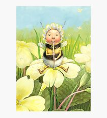 'Beebod' - cute bee-pixie Photographic Print