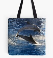Playing Dolphines Tote Bag