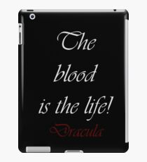 The Blood Is The Life iPad Case/Skin