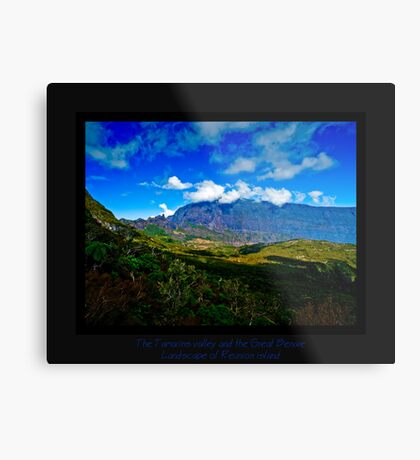 The Tamarins valley and the Great Bènare Metal Print