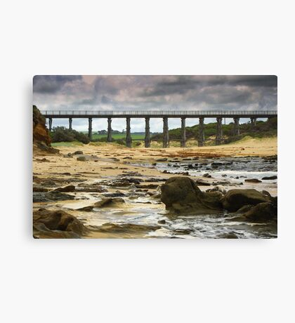 A cold day at the bridge Canvas Print