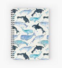 Cuaderno de espiral Ballenas, Orcas y Narwhals