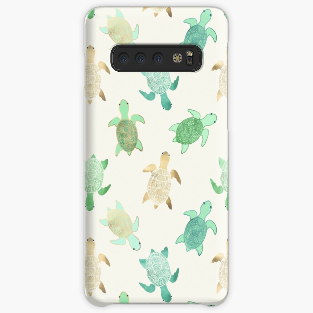 Gilded Jade & Mint Turtles Cases & Skins for Samsung Galaxy