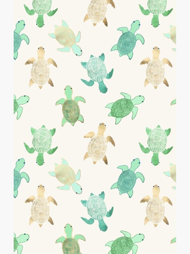 Gilded Jade & Mint Turtles by Tangerine-Tane