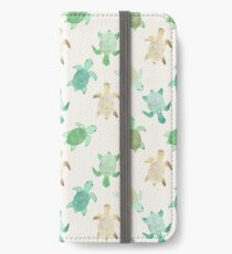 Vinilo o funda para iPhone Dorado Jade & Mint Turtles