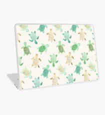 Vergoldete Jade & Mint Schildkröten Laptop Folie
