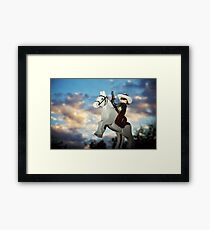 Hi Ho Silver Away! Framed Print