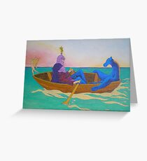 La barque  Greeting Card