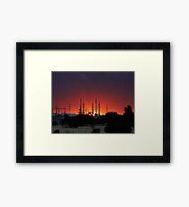 Sunset in the suburb Framed Print