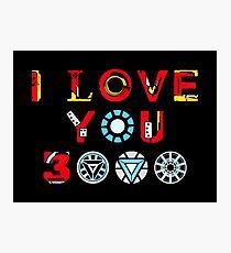 Ich liebe dich 3000 v3 Fotodruck