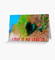 Love It Or Leaf It Greeting Card