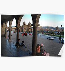 Cusco Collonade Poster