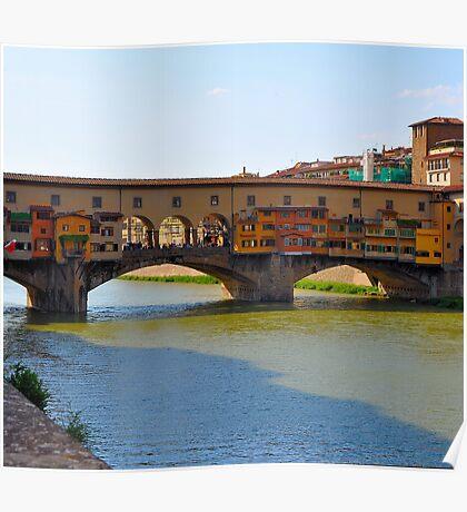 Arno River Quay IV (The Ponte Vecchio) Poster