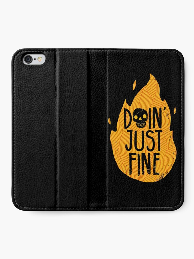 Alternate view of Doin' Just Fine iPhone Wallet