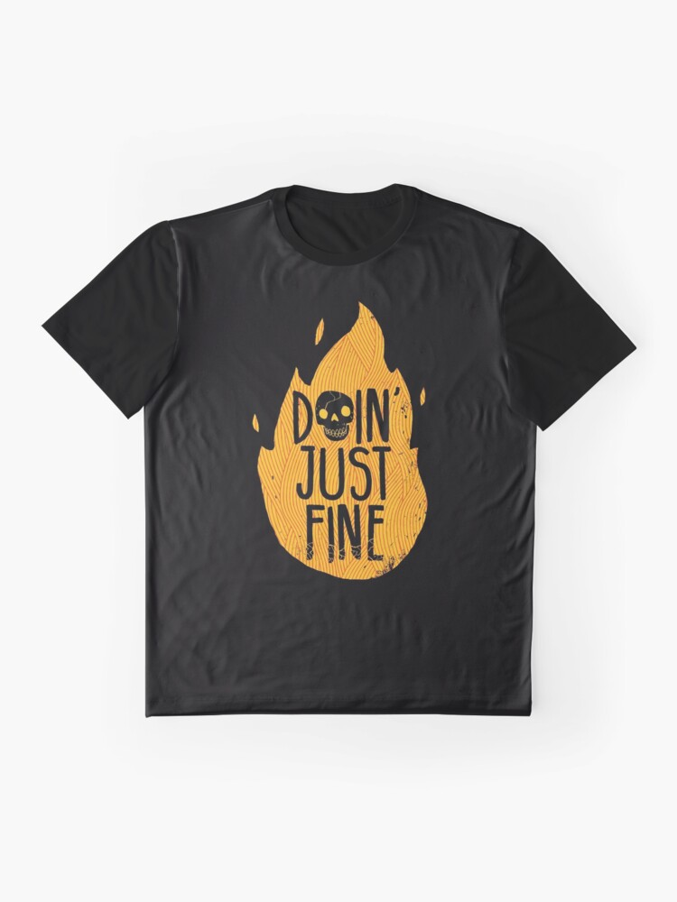 Alternate view of Doin' Just Fine Graphic T-Shirt