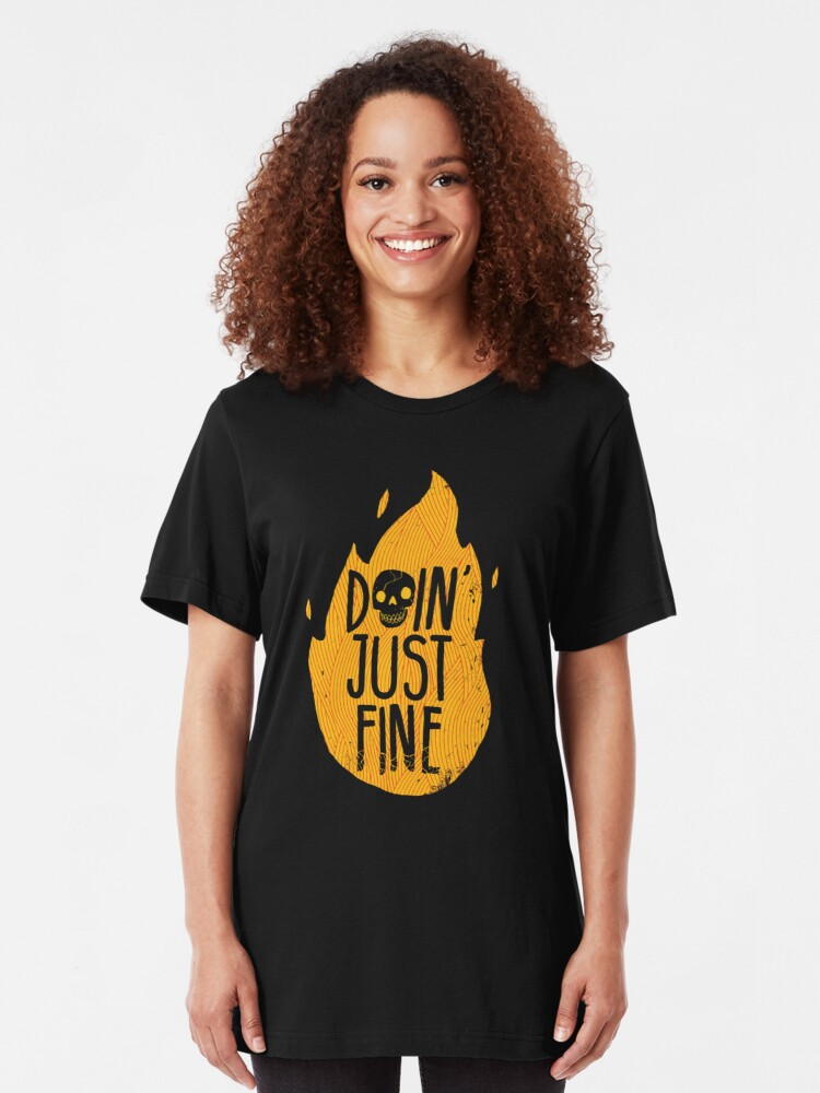 Alternate view of Doin' Just Fine Slim Fit T-Shirt