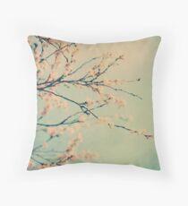 Winter Blossom Throw Pillow