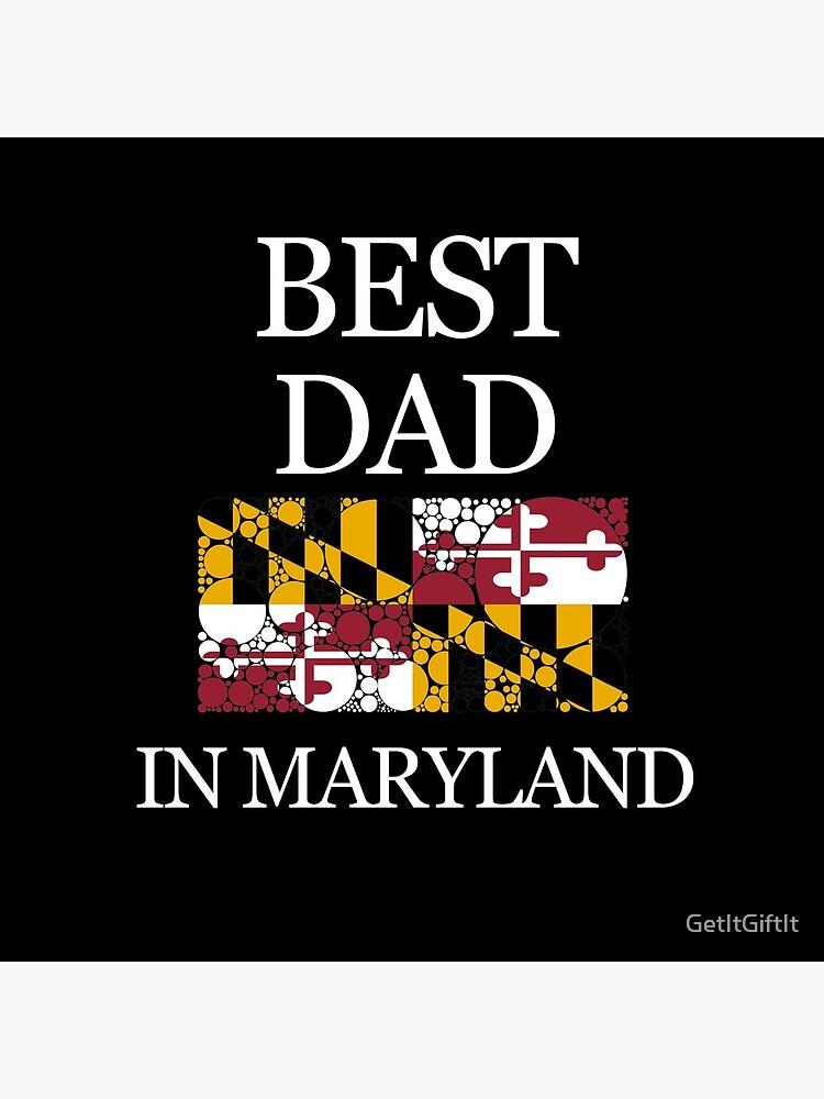 El mejor diseño de la bandera del estado de los círculos de Maryland en Maryland de GetItGiftIt